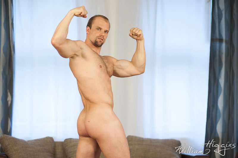 handsome daddy hunk naked and posing