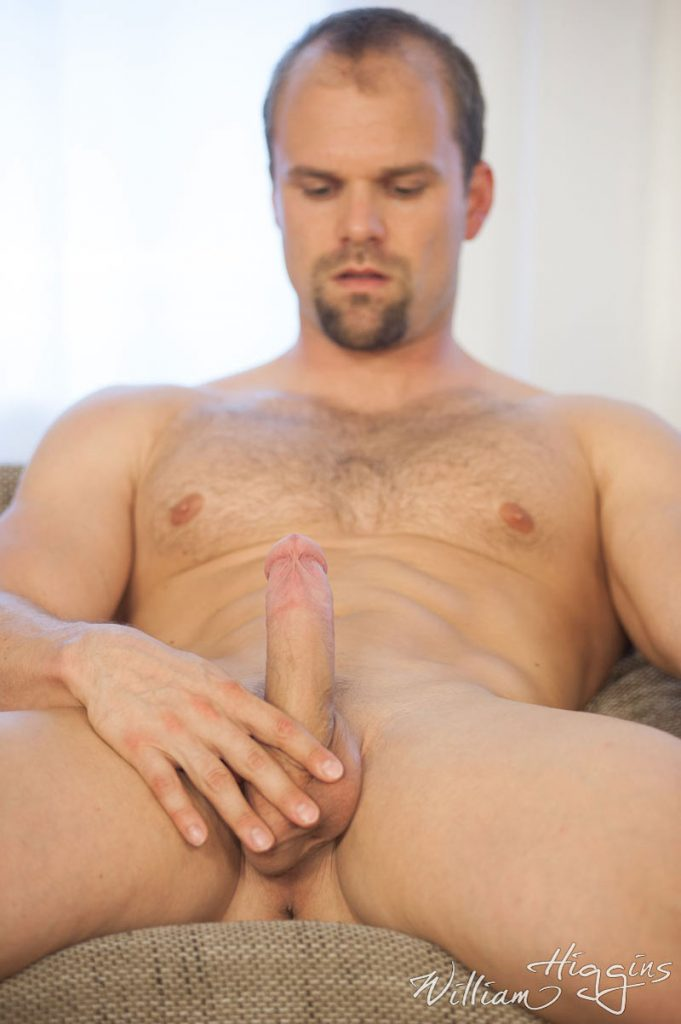 hairy muscle daddy with a hard cock