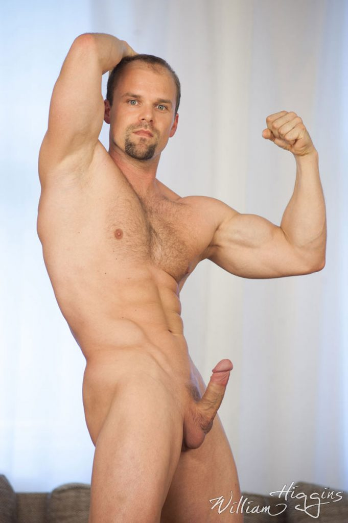 muscle hunk with a rock hard cock