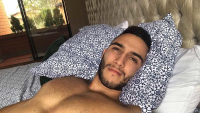 handsome cam hunk in bed