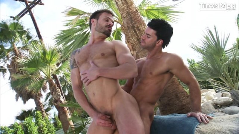 men fucking outdoors in Intuition dvd