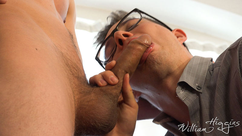 twink sucking an uncut cock