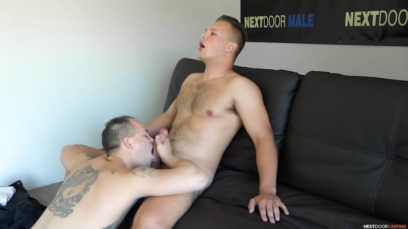 straight guy getting head from another guy