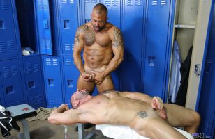click to watch these men delivering loads for each other at pride studios