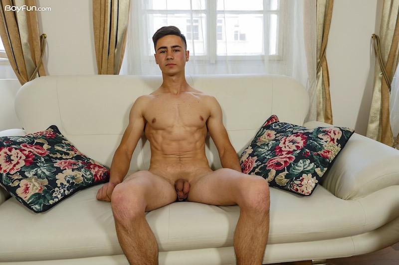Click to watch gorgeous James Watkins enjoying his twunk cock at BoyFun