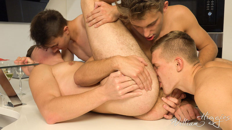 Christmas gay orgy ass rimming