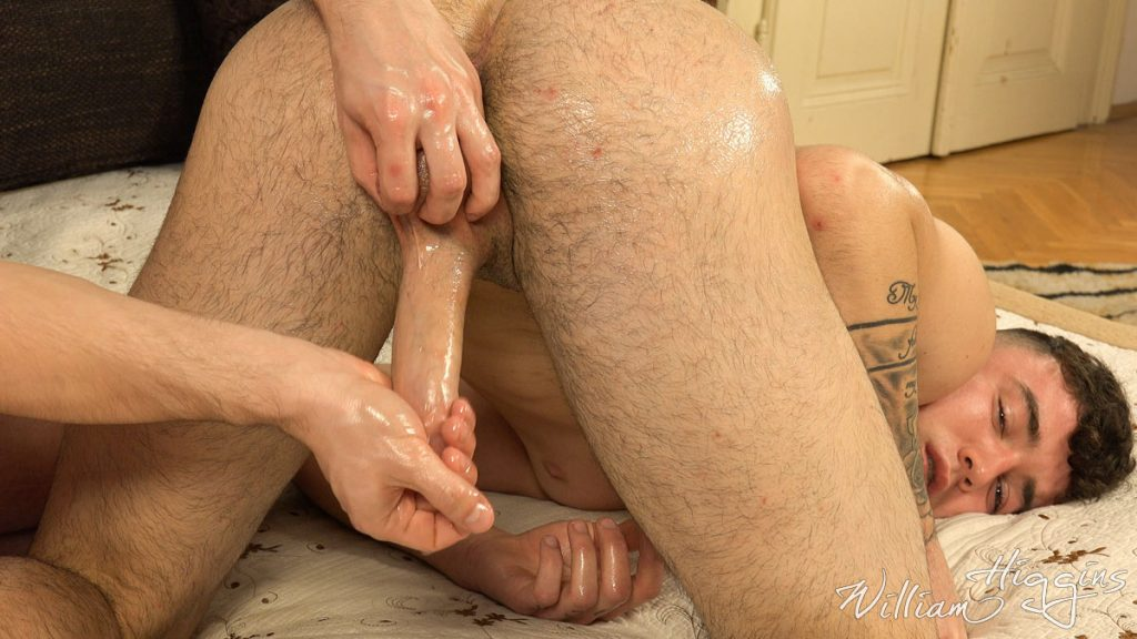 Simon Best gets his straight uncut cock milked for him