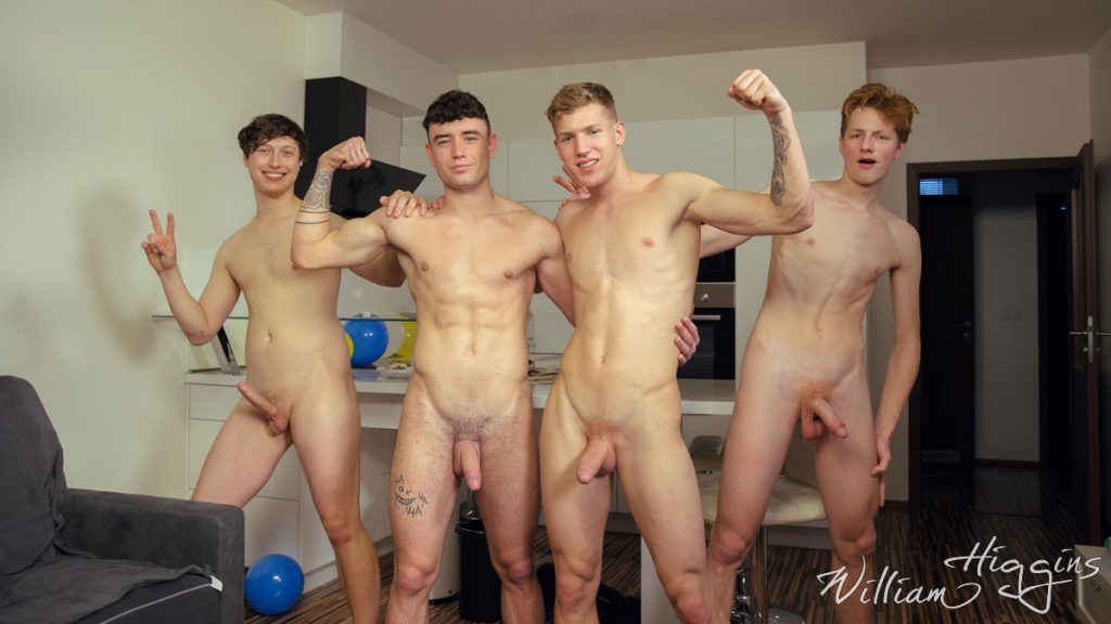 Straight Simon Best dives into a Bareback Twink Fourgy