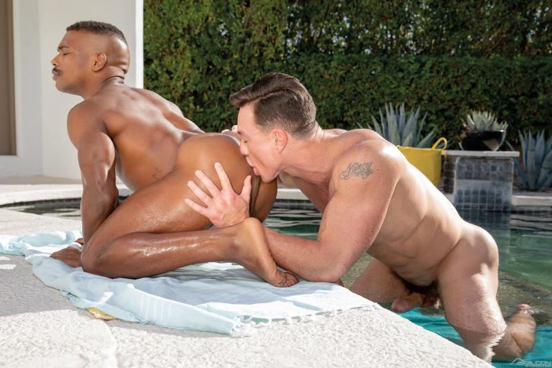 Cade Maddox rims the hot hole of Adrian Hart