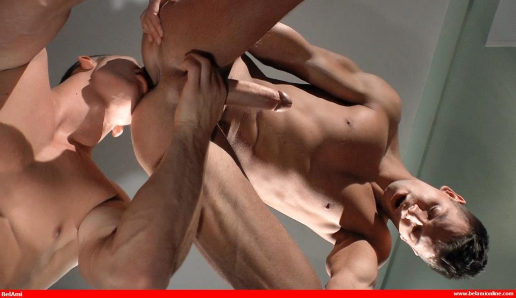 Zac DeHaan rims Rhys Jagger in a gay bareback video from Bel Ami Online
