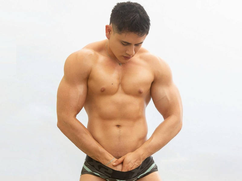 Gay Cams Muscle Hunk Aron Connor